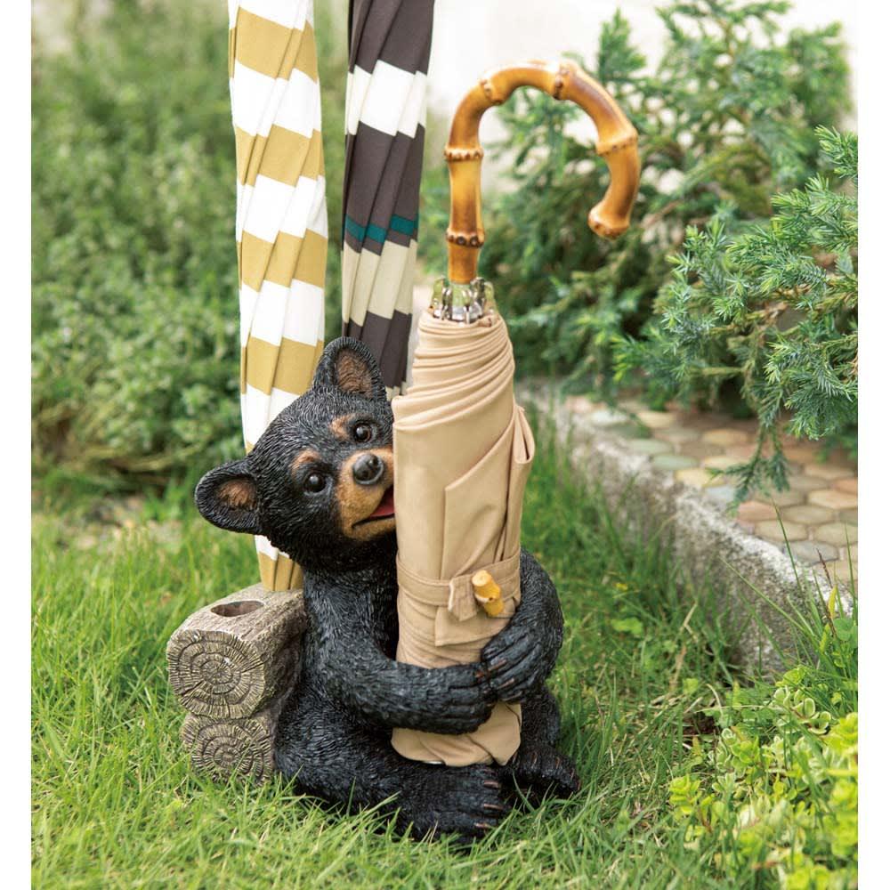 森の動物オーナメントシリーズ リトルベアの傘立て G61516