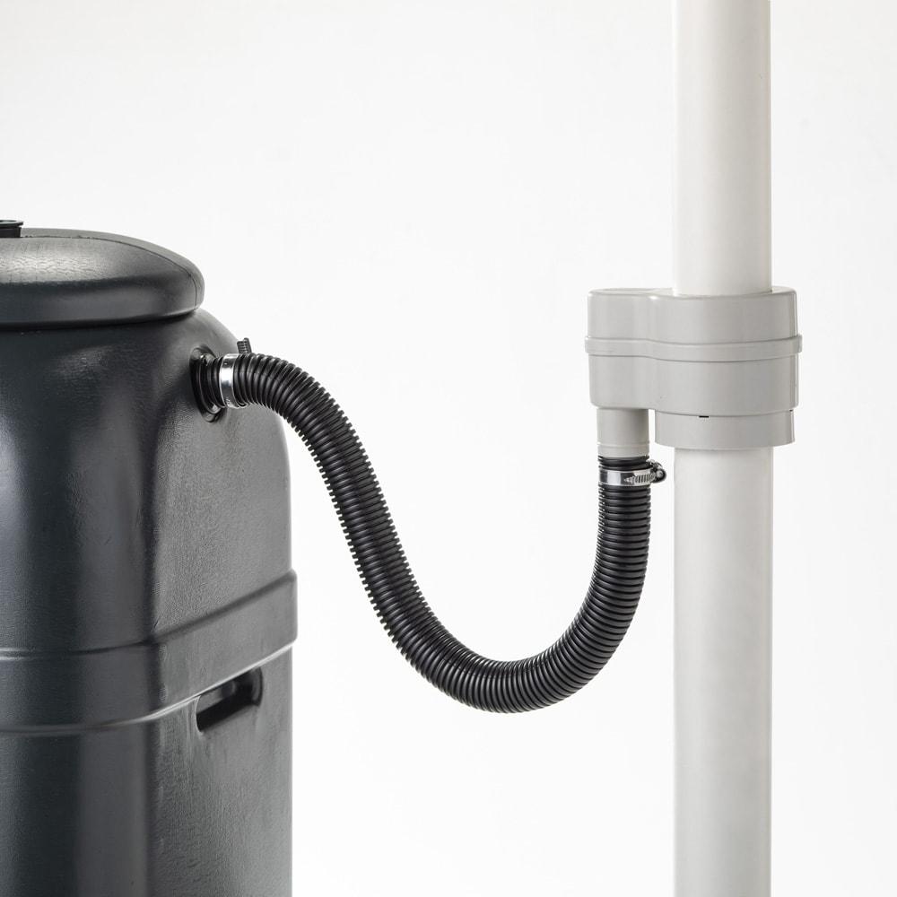 英国Strata社製雨水貯水タンク 容量100L 手順4 ホースを接続して完成です。