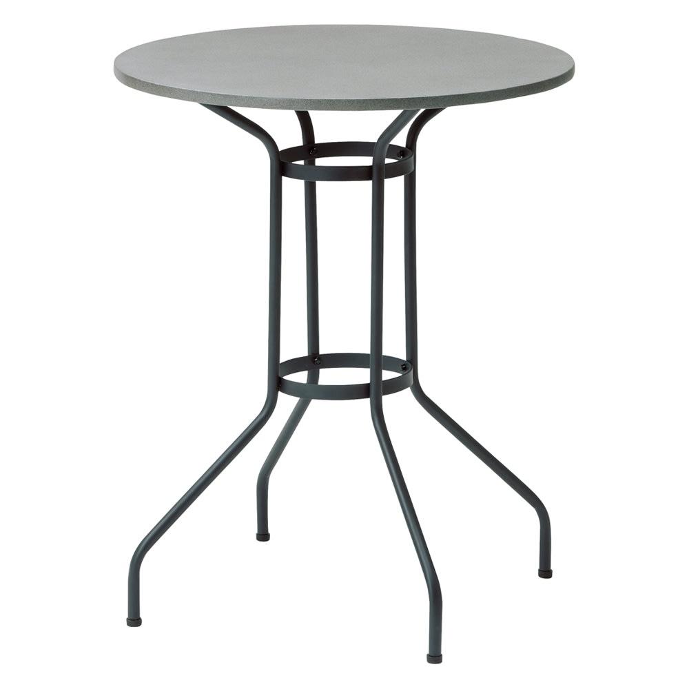 モダングレーテーブル&ロープチェア2脚  3点セット
