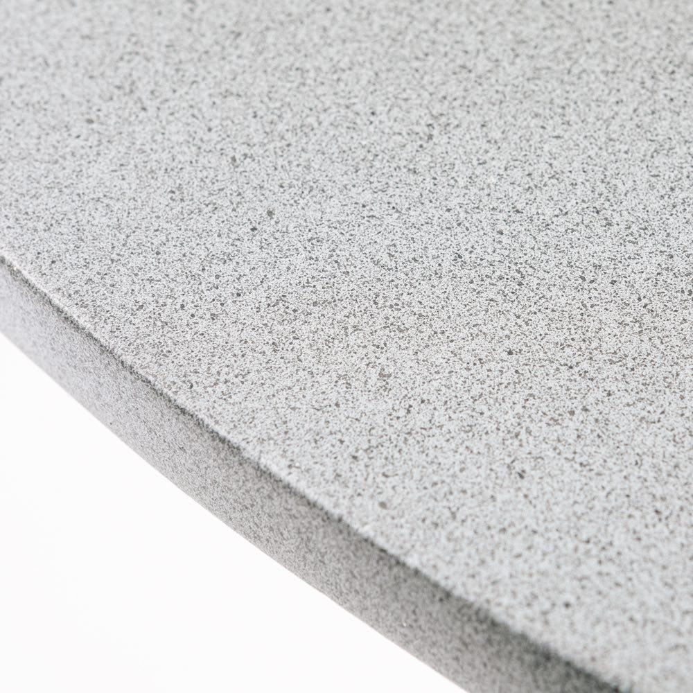 モダングレーテーブル&ロープチェア2脚  3点セット 天板は石のように見える素材感。