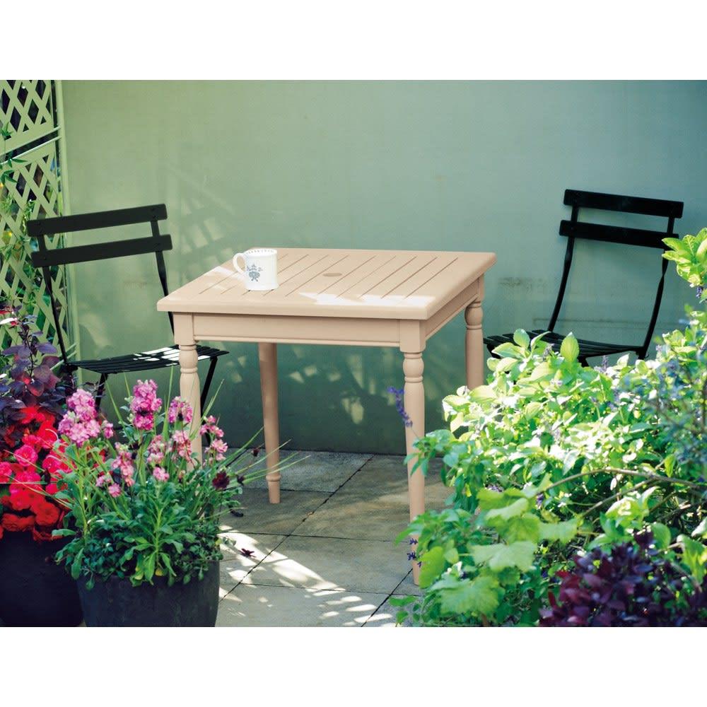 フランス製ビストロテーブル&チェア ビストロ3点セット(ビストロテーブル+ビストロチェア2脚組) (イ)リコリッシュブラック