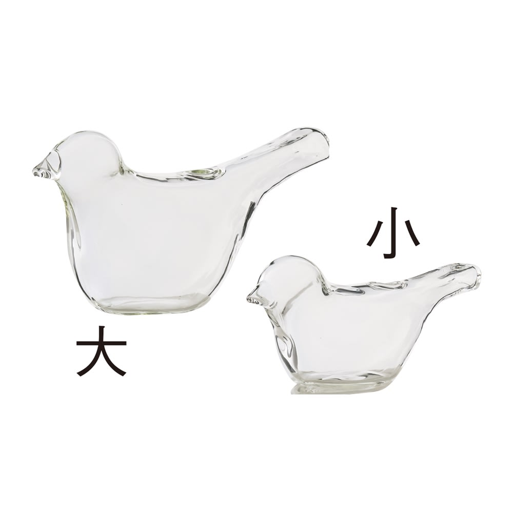 小鳥の花瓶 大小セット 左から大 小