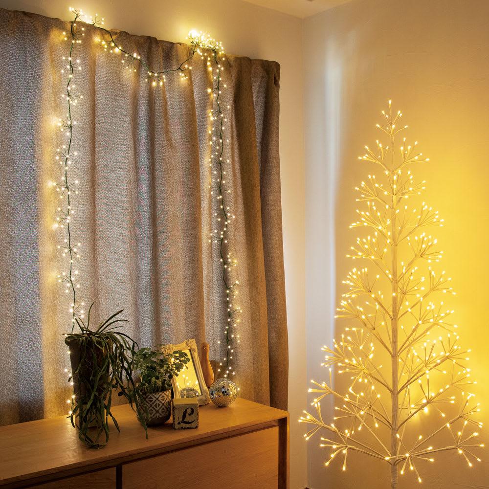 植栽になじむ!屋内外で使えるLEDクラスターライト 室内使用も可能です。
