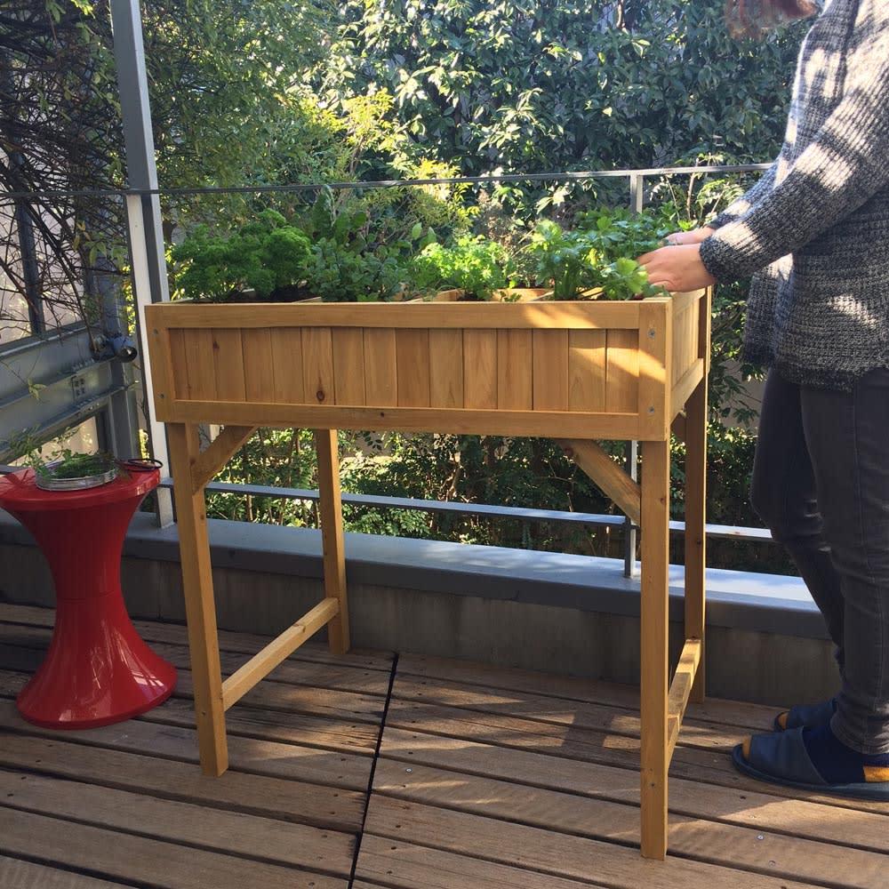 ハーブ用菜園プランター ベジトラグ 薄型(4コマ)