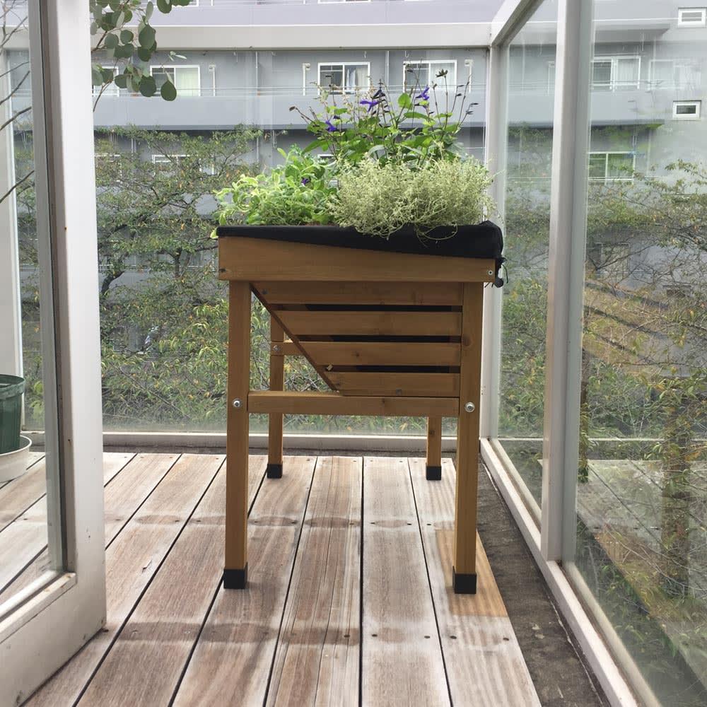 菜園プランター ベジトラグ バルコニーサイズ バルコニーに最適なサイズ!