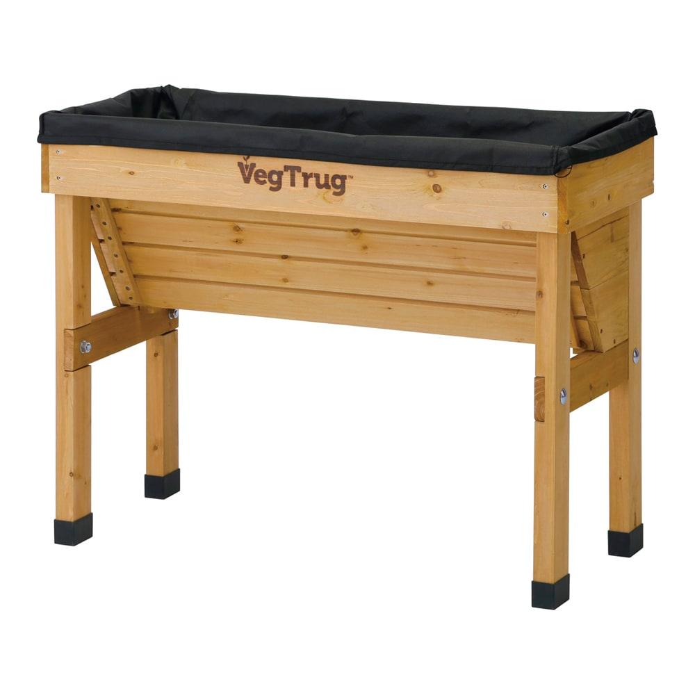 菜園プランター ベジトラグ 省スペースサイズS (ア)ナチュラル 専用ライナー付き。 ※写真はSサイズです。