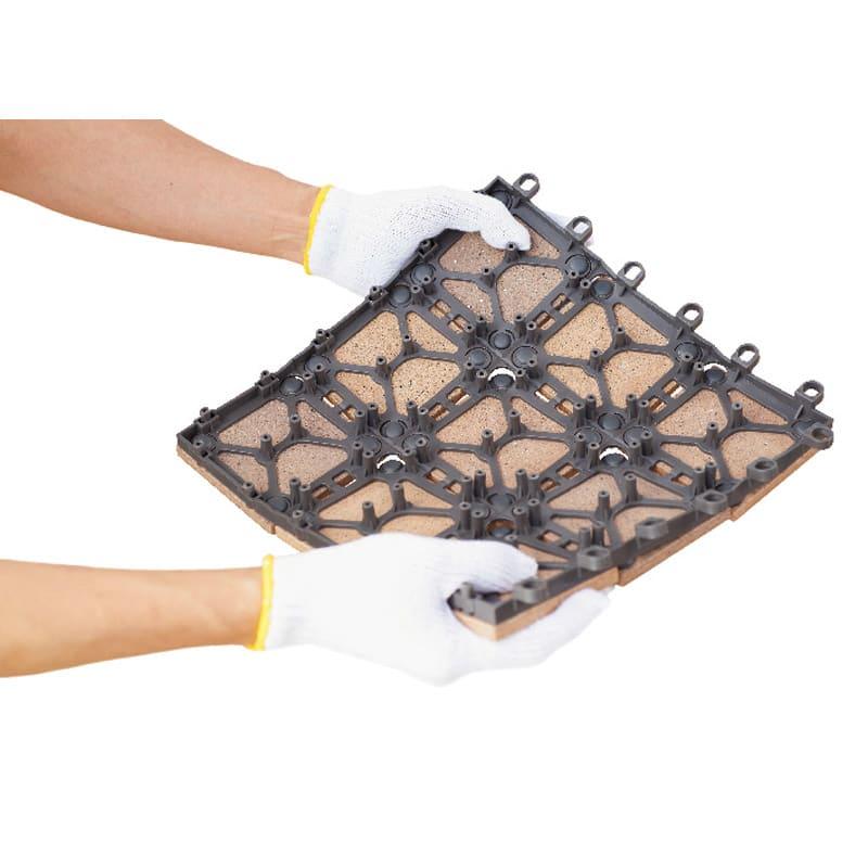 TOTO汚れにくいベランダマット 同色10枚組 特殊特許でタイルと樹脂がはがれにくい安心の構造。
