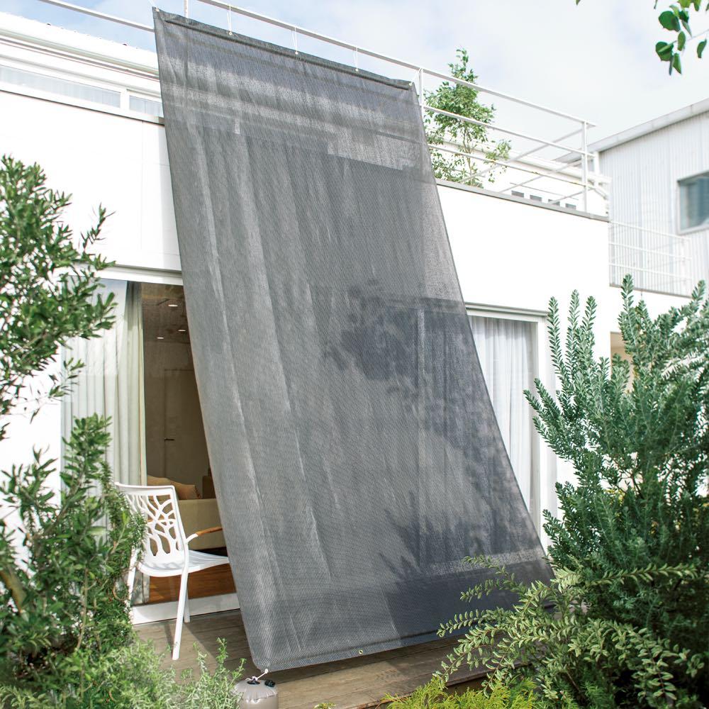 サマーオーニング タープ 約200×300cm (エ)チャコールグレー UVカット率…約91.7% ※色見本