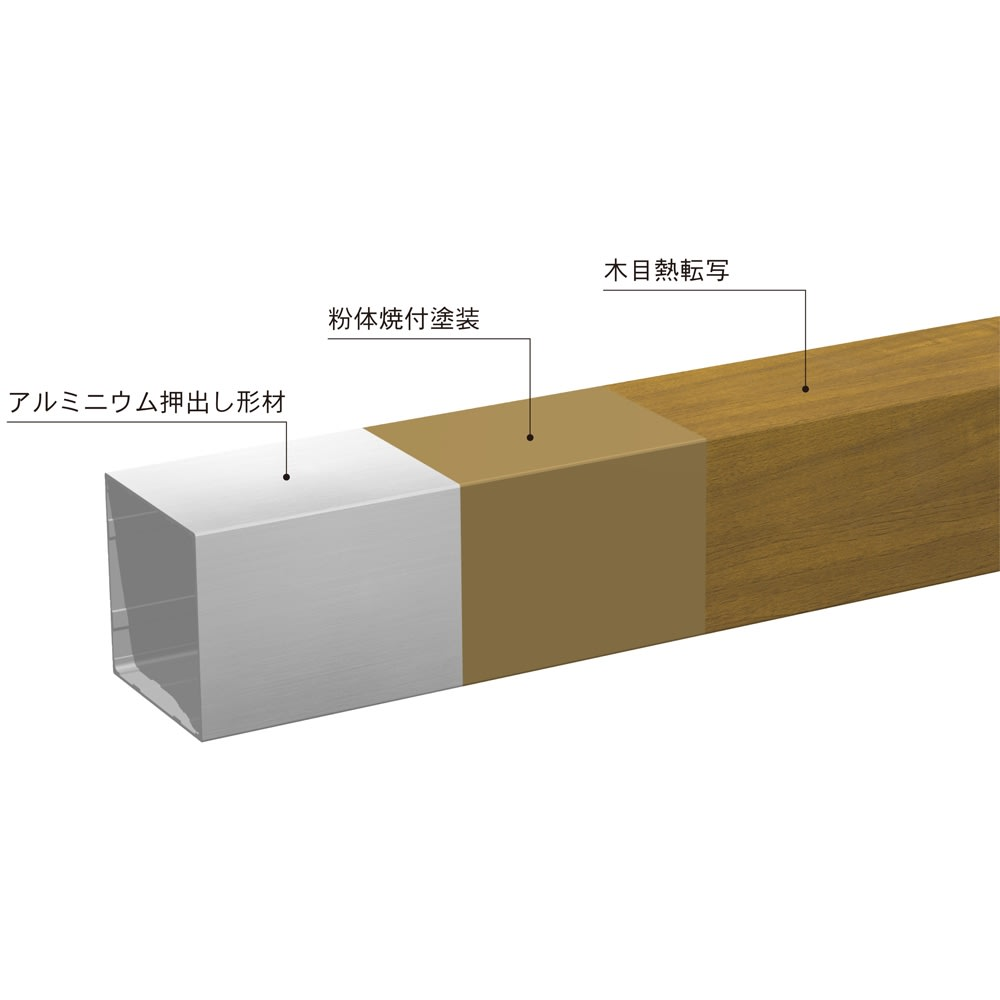 木目調アルミデッキ縁台用ステップ 単品 ステップ