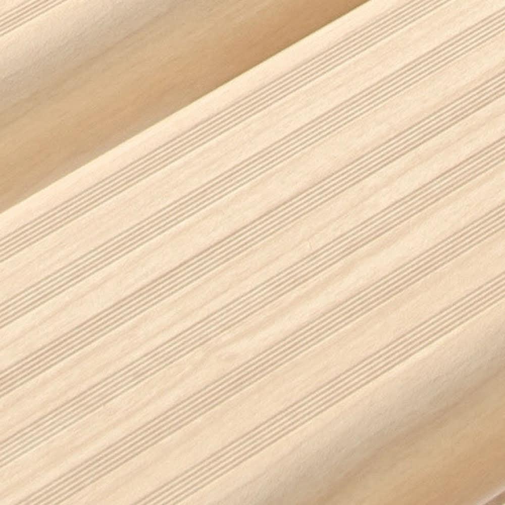 木目調アルミデッキ縁台&ステップ 単品 デッキ縁台120×36cm (ア)アイボリー