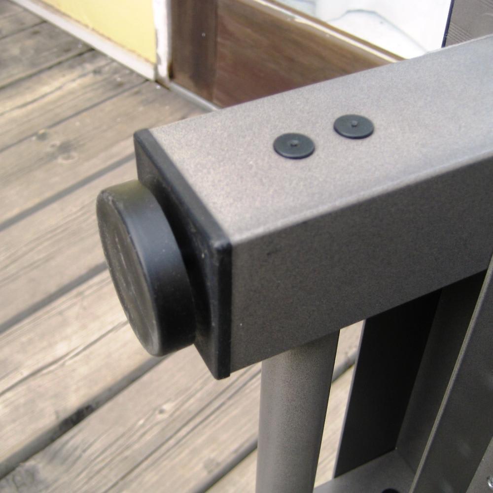アルミデッキ縁台 幅180cm シルバー 脚部のアジャスターで高さを微調節