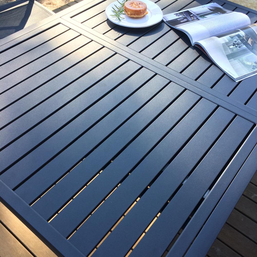 伸長式アルミテーブル&チェア 7点セット