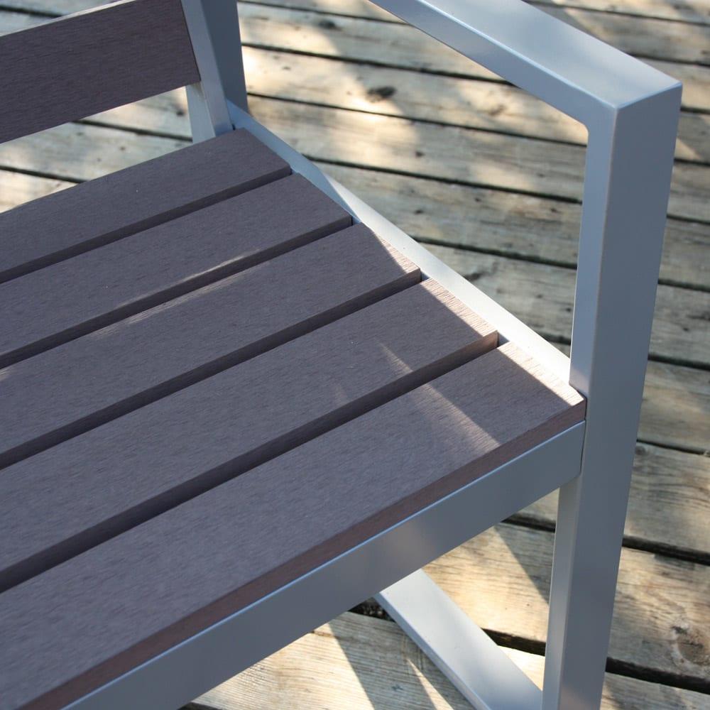 木風プラスチック&アルミファニチャー 長方形 4点セット