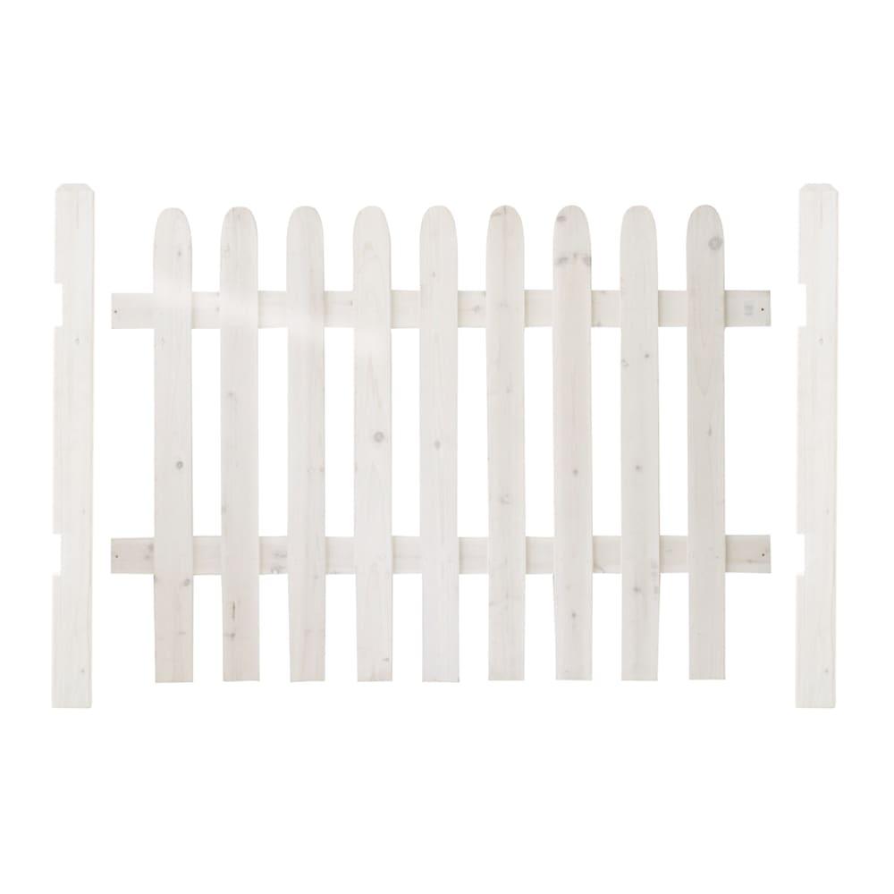 直線基本セット(ピケットフェンスシリーズ 直線土用) (ア)ホワイトウォッシュ お届けの商品です。