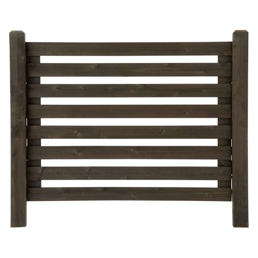 木製ボーダーフェンス フェンス飾り棚セット(フェンス+飾り棚2個組) G68104