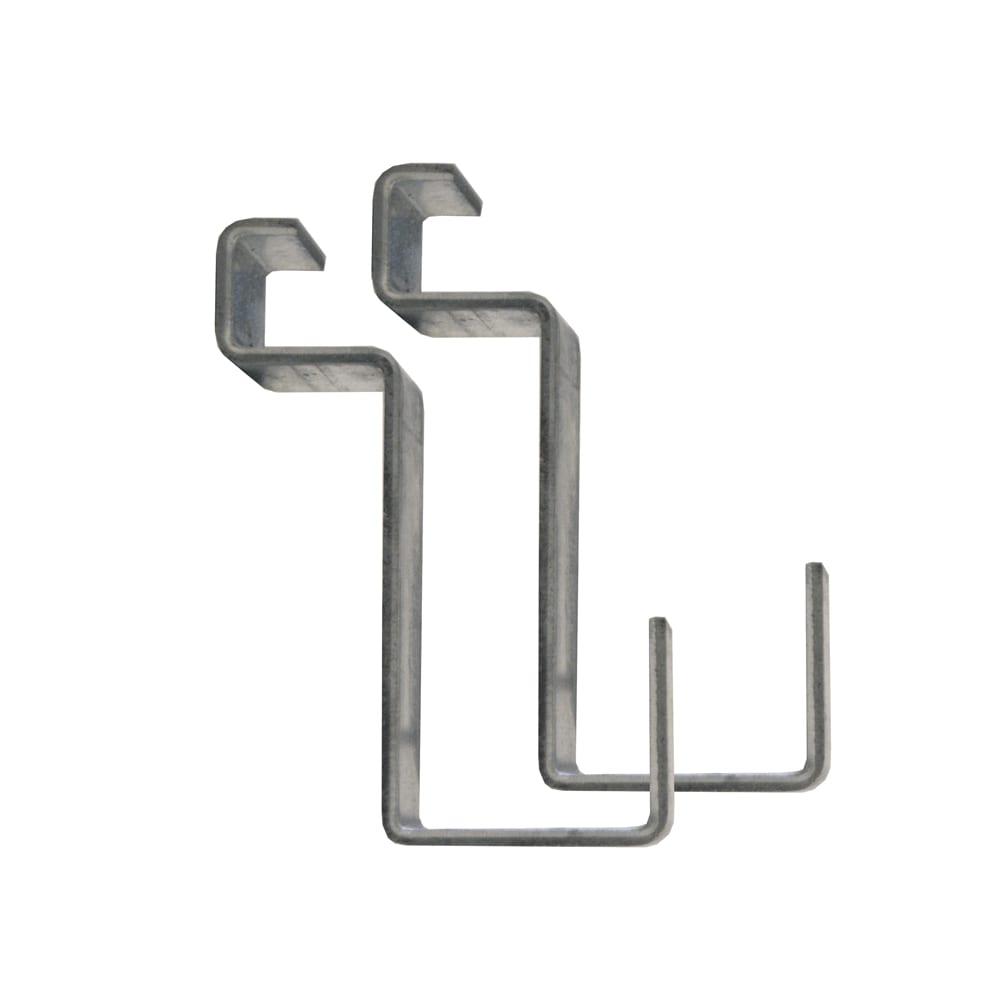 イタリア製物置 三角屋根 可動式フックは2個付き。ツール掛けに便利です。