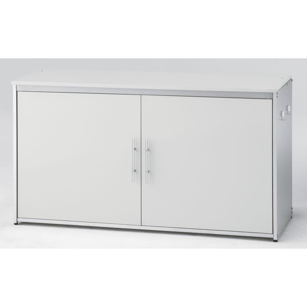 ガルバ製2面開閉ダスト収納庫 ※写真は幅125cmタイプです。