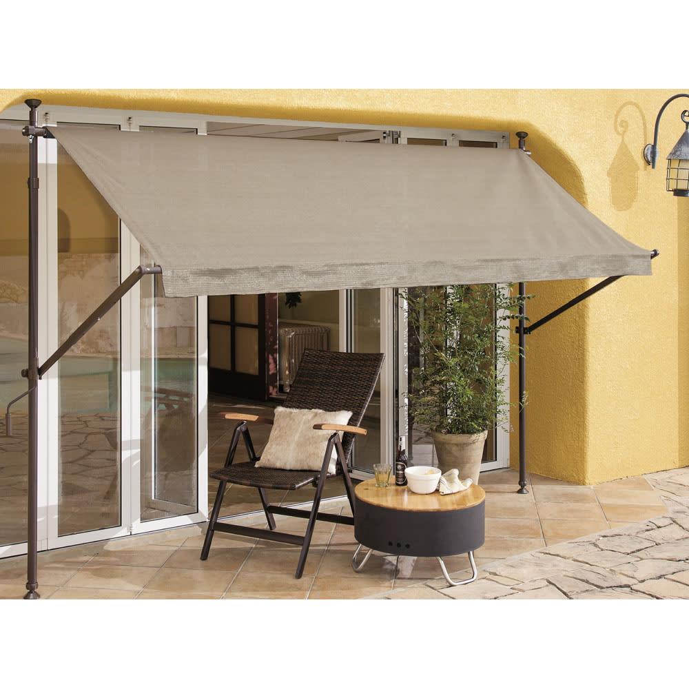 ガーデニング フラワー ガーデニング用品 エクステリア 日除け ガーデンパラソル サマーオーニング つっぱり式 幅208cm G69501