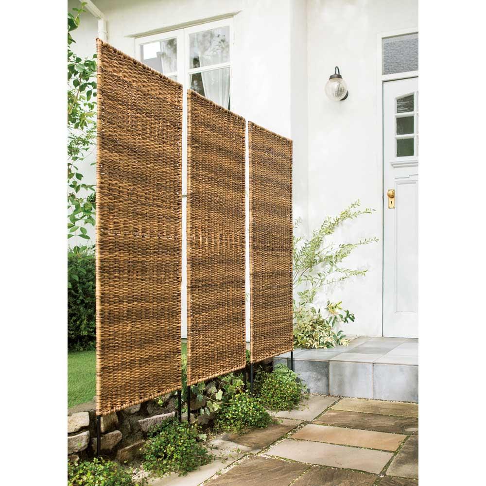 英国風天然素材調フェンス 1枚 使用例 ※お届けは1枚です。