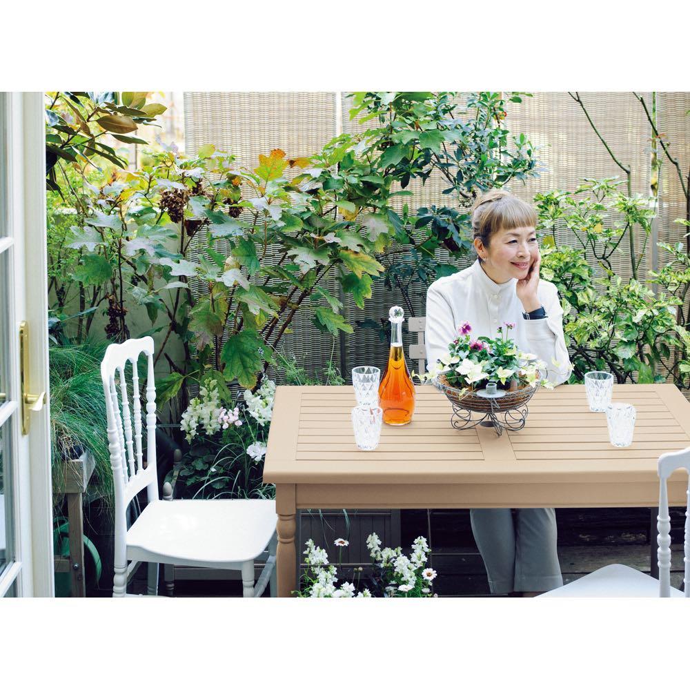 ガーデニング フラワー ガーデニング用品 エクステリア ガーデンテーブル アンティーク風テーブル 大 G65705