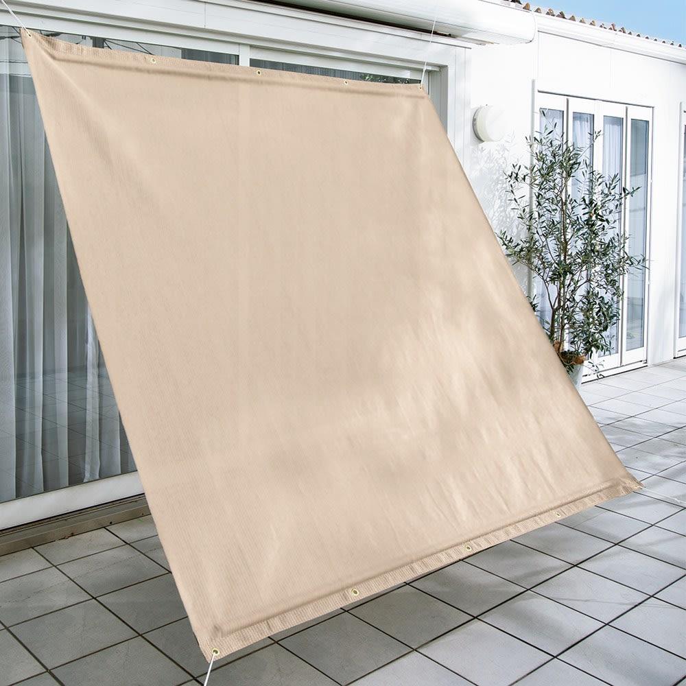 サマーオーニング タープ 約200×200cm (ア)グレイッシュベージュ UVカット率…約89.9%