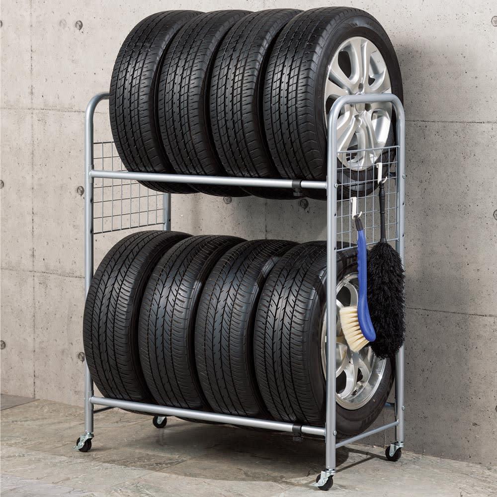 伸縮式タイヤラック ラックのみ タイヤラック・タイヤ収納
