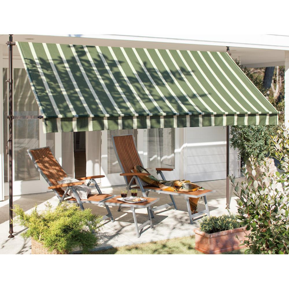 ガーデニング フラワー ガーデニング用品 エクステリア 日除け ガーデンパラソル サマーオーニング つっぱり式 幅310cm G69502