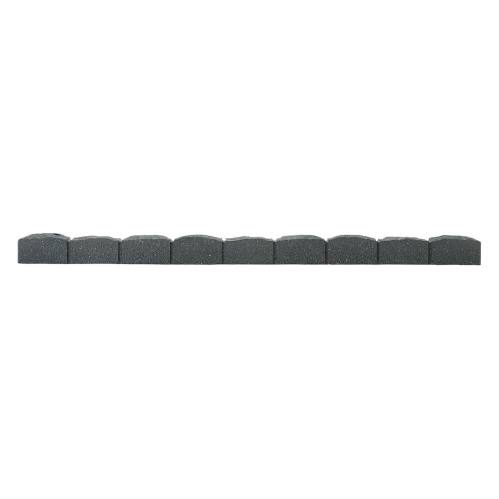 カナダ製ラバーエッジングシリーズ 1段 お得な2個組(幅120cm×2個=240cm分) (イ)グレー 必要なところで、のこぎりなどでカットできます。