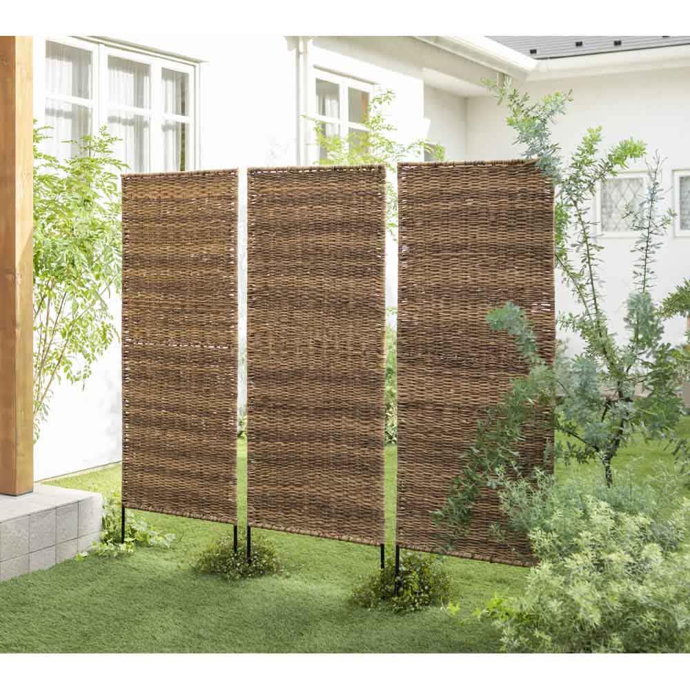 英国風天然素材調フェンス 1枚 お庭の間仕切りとしても。