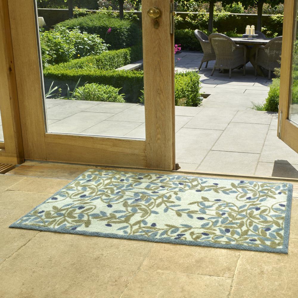 英国タートル社玄関マット 75×120cm (イ)リーフ ※写真は75×120cmタイプです。