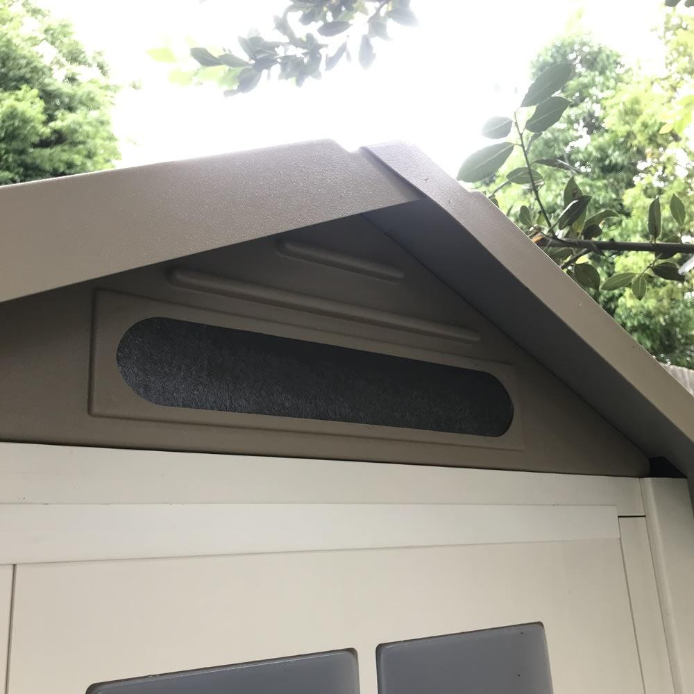 イタリア製物置 三角屋根 充電式電動ドライバー付き