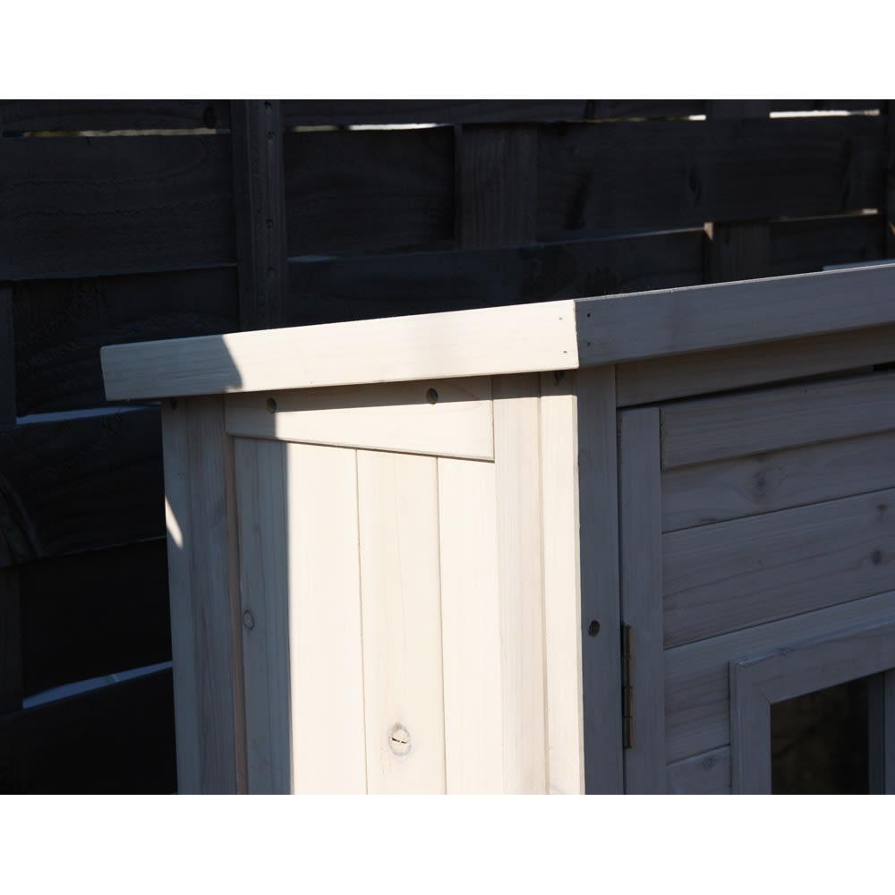 木製薄型収納庫 高さ92cm