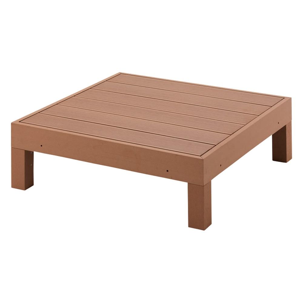 人工木デッキフェンス付き 1.5畳セット(デッキ×3+ステップ) (ア)ライトブラウン ※デッキ90×90にはフェンスはつきません。