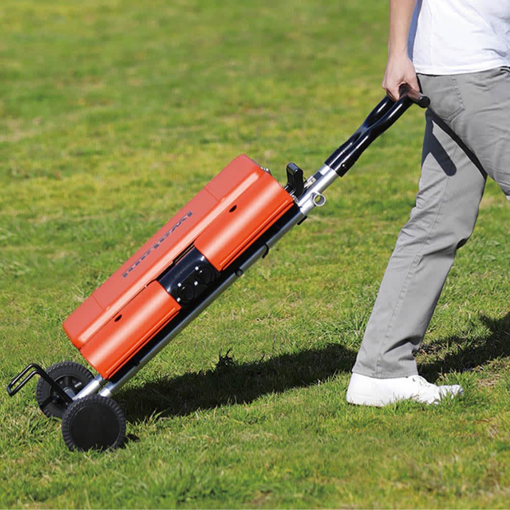 IWATANI カセットガススタンドBBQグリル 折り畳み簡単で、庭先やキャンプでの持ち運びも簡単。