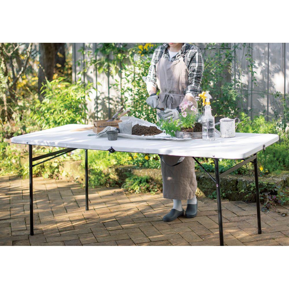 折りたたみ作業台シリーズ テーブル ホワイト G80821