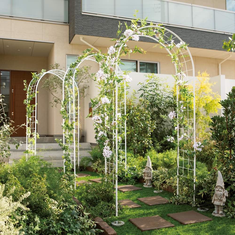 ガーデニング フラワー ガーデニング用品 エクステリア ガーデンアーチ サイズと絡めやすさにこだわったアーチ お得な2本組 G81011