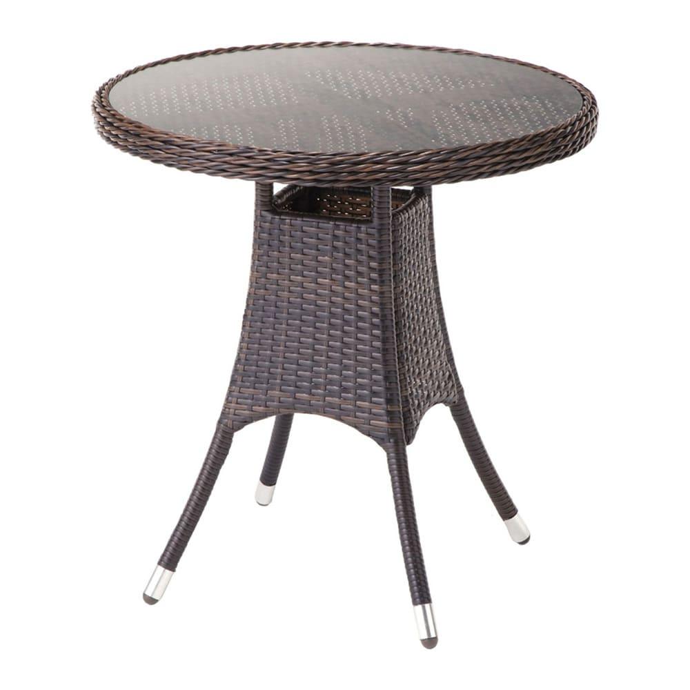 ガラス&ウィッカーシリーズ ラウンド小テーブル G82205