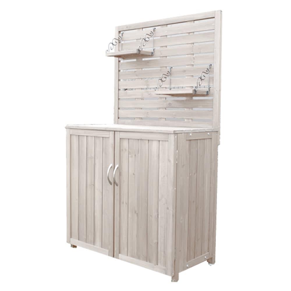 木製棚付き収納庫幅80cm (イ)アンティークホワイト ※吊り棚のフックの色はブラックになります。コーディネートの商品画像をご参照下さい。