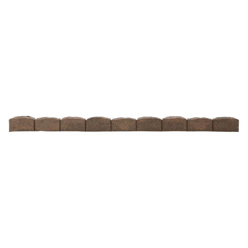 カナダ製ラバーエッジングシリーズ 1段 お得な2個組(幅120cm×2個=240cm分) (ア)ブラウン 必要なところで、のこぎりなどでカットできます。
