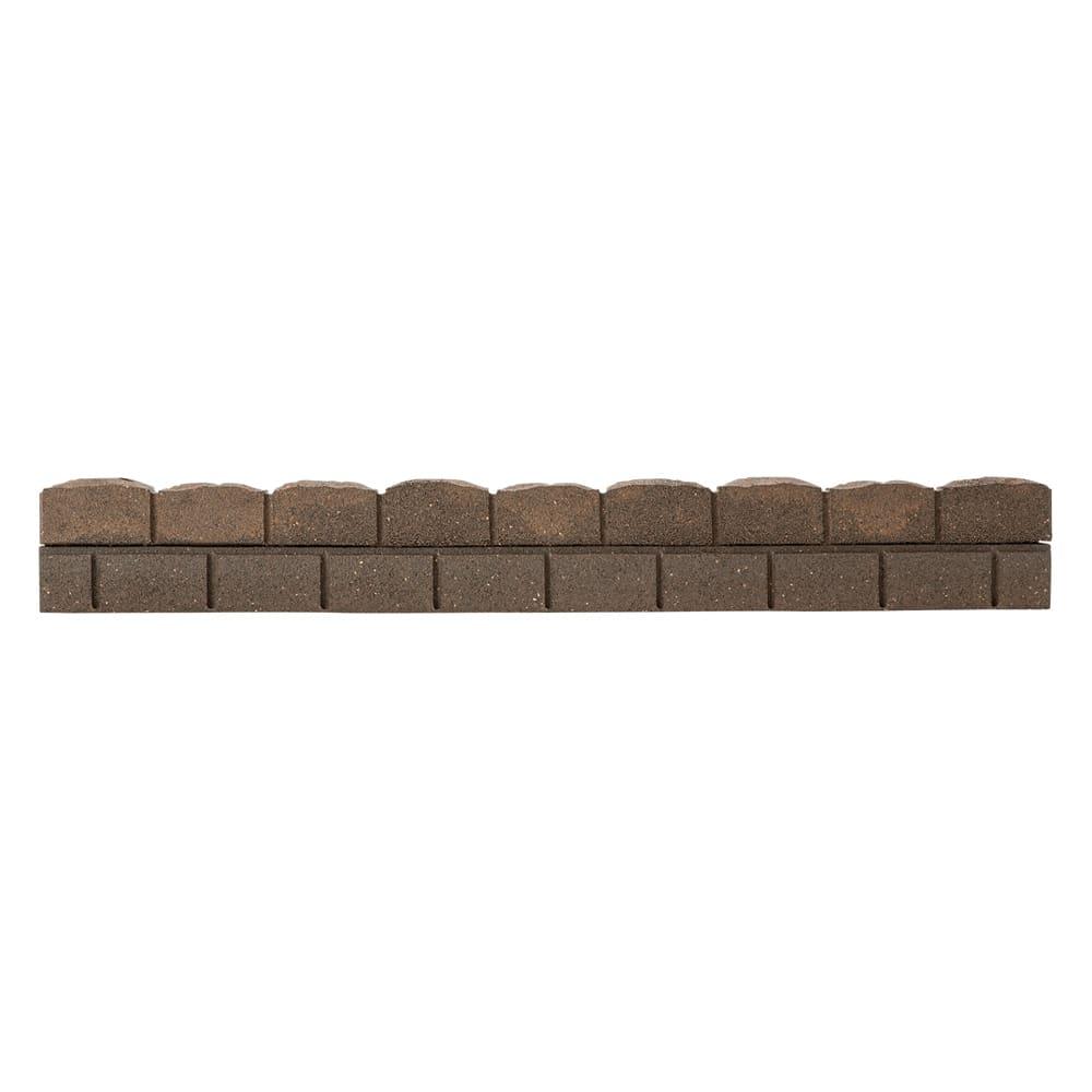 カナダ製ラバーエッジングシリーズ 2段 お得な2個組(幅120cm×2個=240cm分) (ア)ブラウン 必要なところで、のこぎりなどでカットできます。