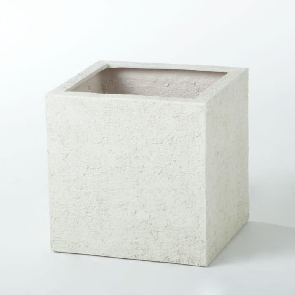シンプルモダンプランター キューブS (イ)アイボリー