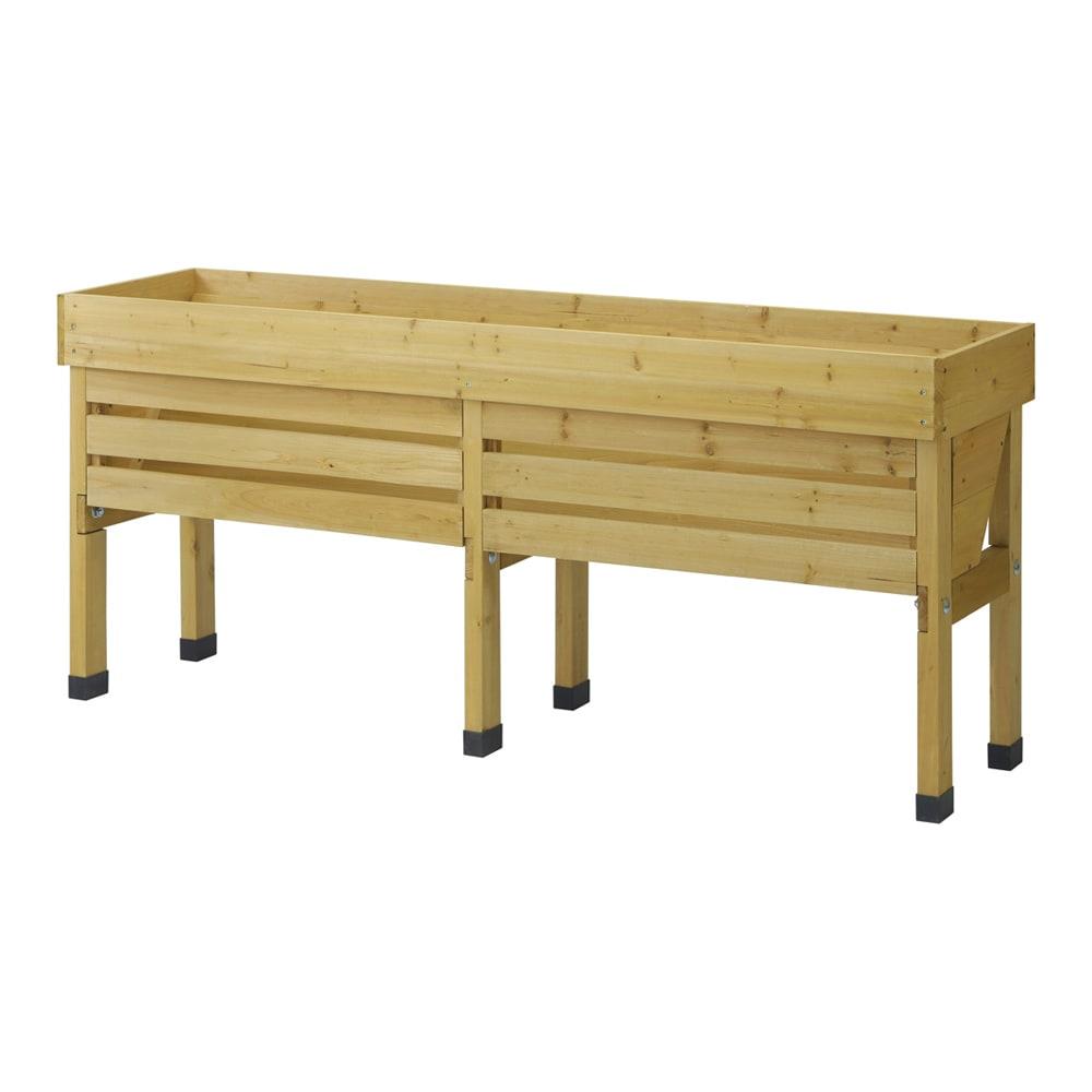 菜園プランター ベジトラグ 省スペースサイズL (ア)ナチュラル 背面様子※写真はLサイズです。