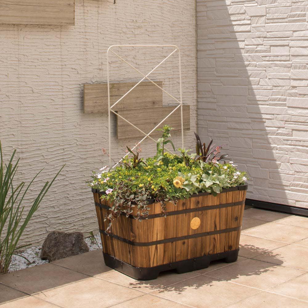 ガーデニング フラワー ガーデニング用品 エクステリア プランター 鉢 フラワースタンド 菜園プランター ベジトラグ パネルトレリス 2枚セット G90881