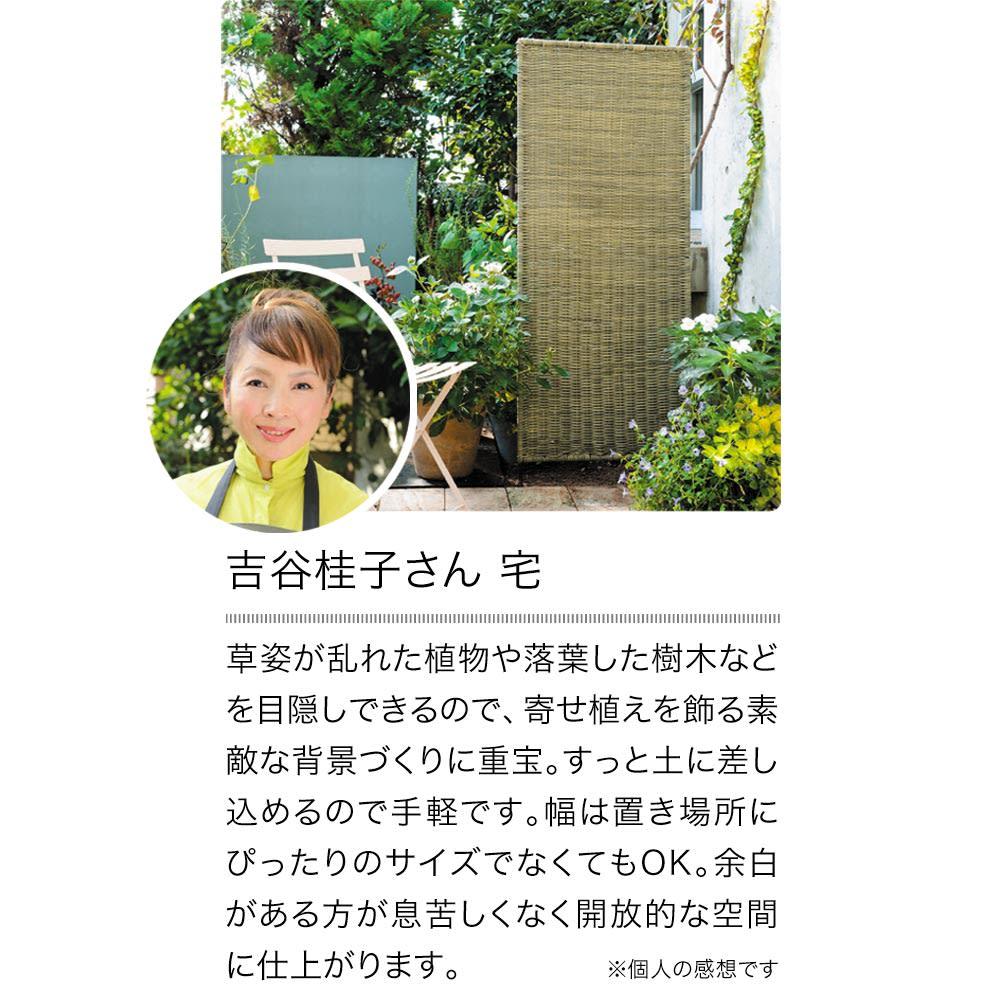 ラタン調フェンスシリーズ 高さ180cm お得な2枚組 【吉谷桂子さんも愛用しています!】自然に目隠しできるのが魅力