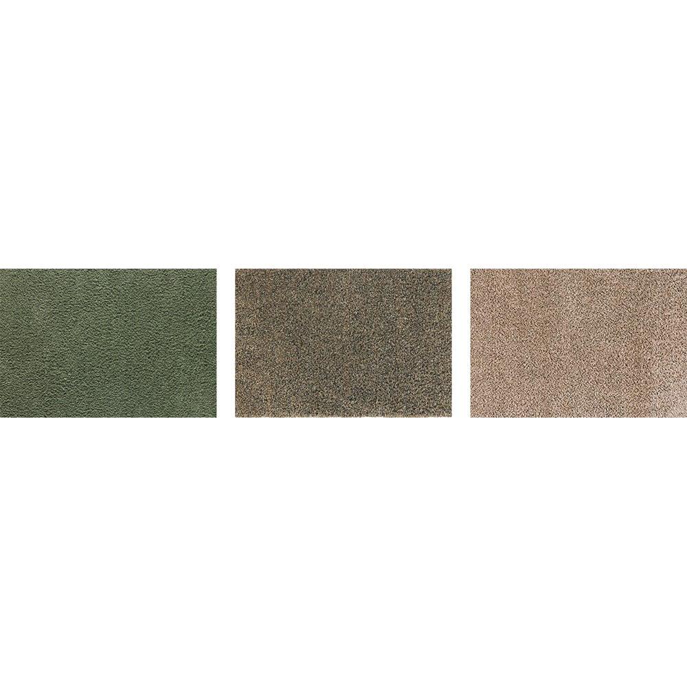 英国製 タートルマット 50×75cm 左から(ア)グリーン (イ)ブラウン (ウ)ベージュ