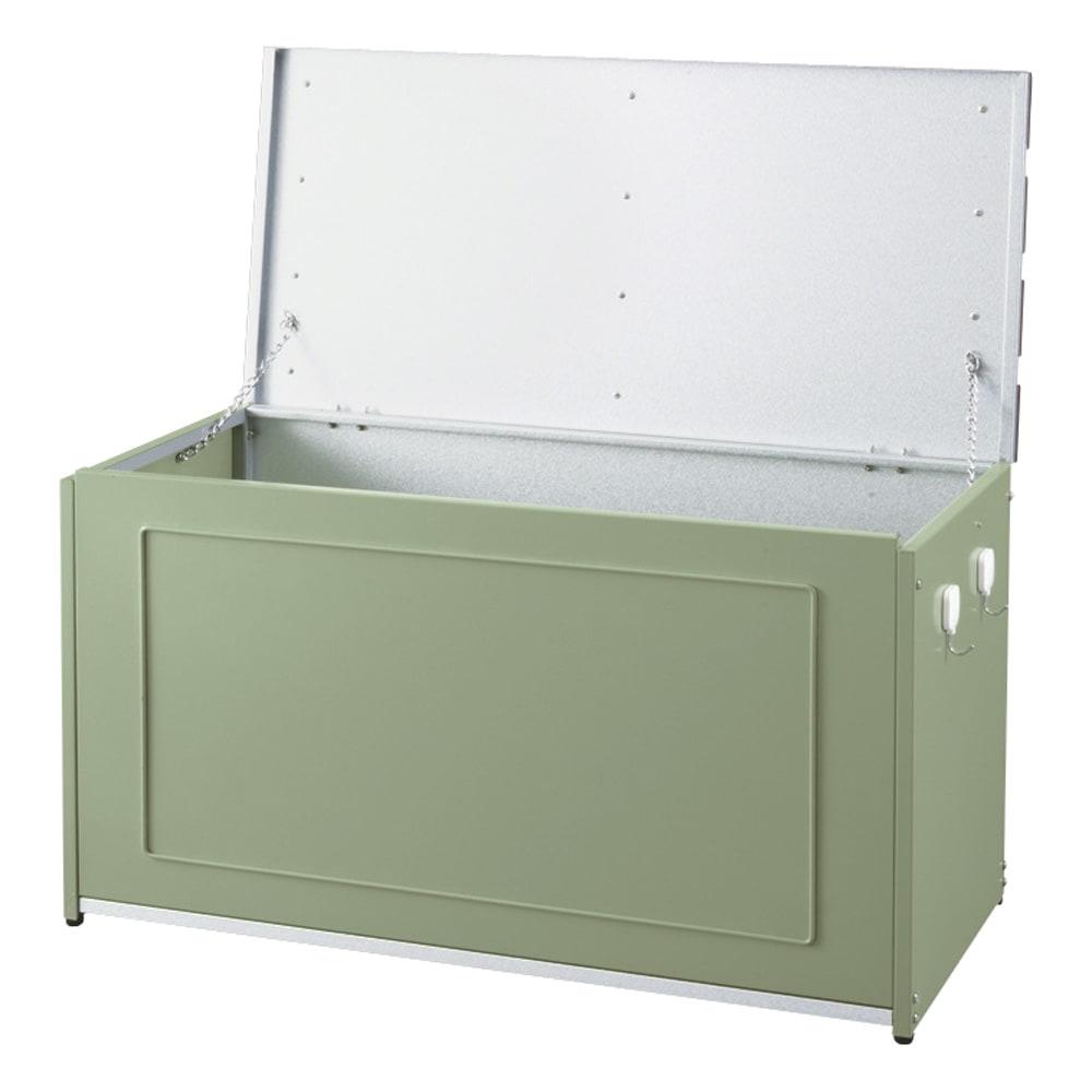 欧風収納ベンチ〈セージグリーン〉 幅90cm