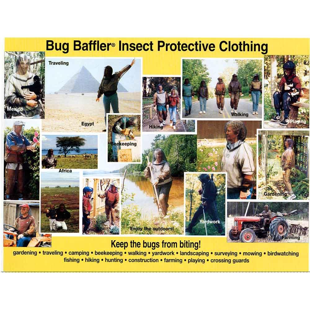 米国バグバフラー社製虫除けスーツ ウォーキング・キャンプ・フィッシング・ハイキングなど。冒険家やトラベラーにも人気。