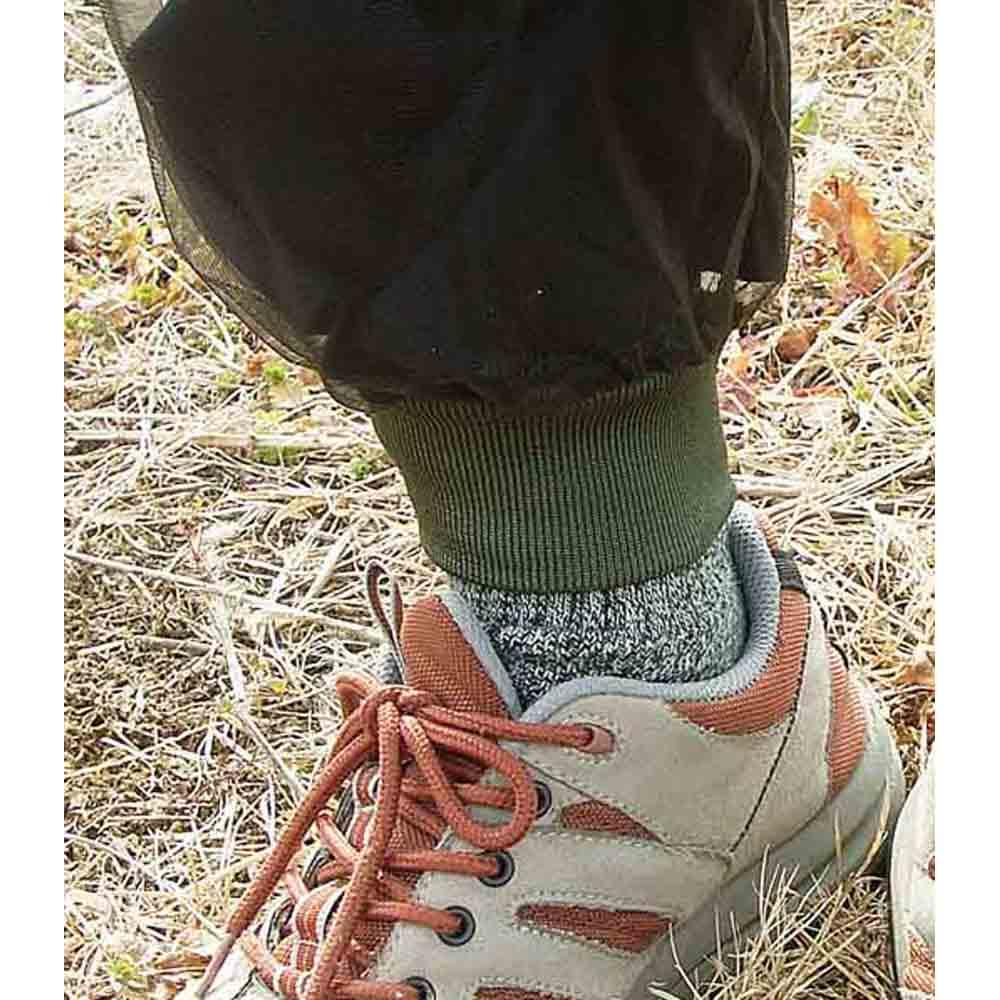 米国バグバフラー社製虫除けスーツ 脚口リブ