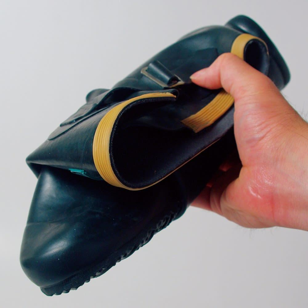 老舗ミツウマ おしゃれな農作業長靴 小さく丸められるので、野外フェスなどにも◎。