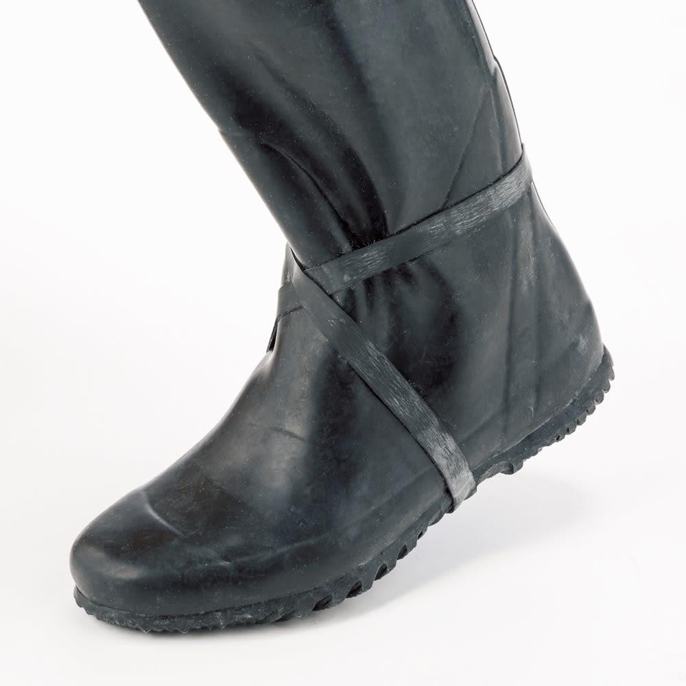 老舗ミツウマ おしゃれな農作業長靴 ぬかるみでも脱げにくいゴムバンド付き。